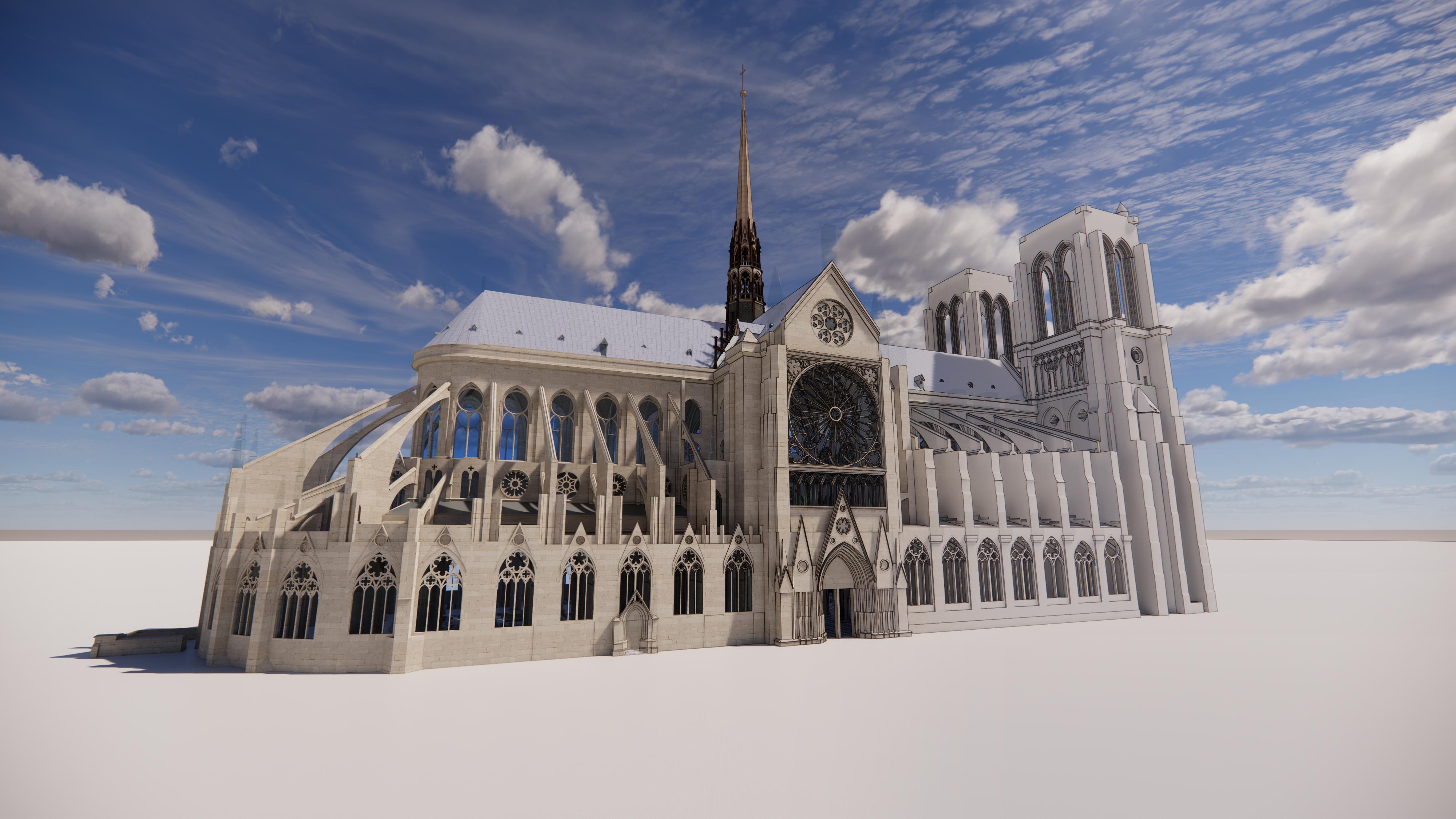 Incendie de Notre-Dame de Paris : deux ans après, la maquette BIM s'invite enfin !
